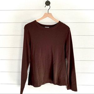 Loft brown long sleeve shirt